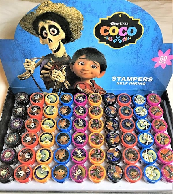Coco self inking stamps birthday favors