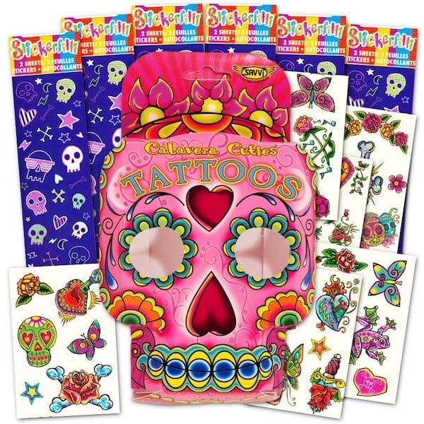 Dia De Los Muertos Coco Temporary Tattoos