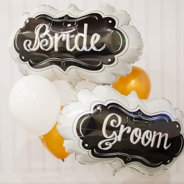 Happy Couple Bride & Groom Balloon Decor Kit