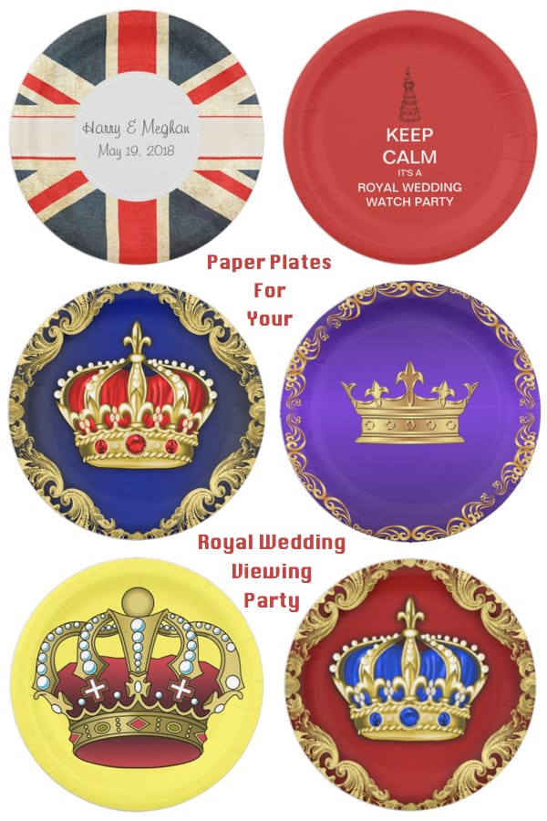 Paper Plates For your Royal Wedding Viewing Party