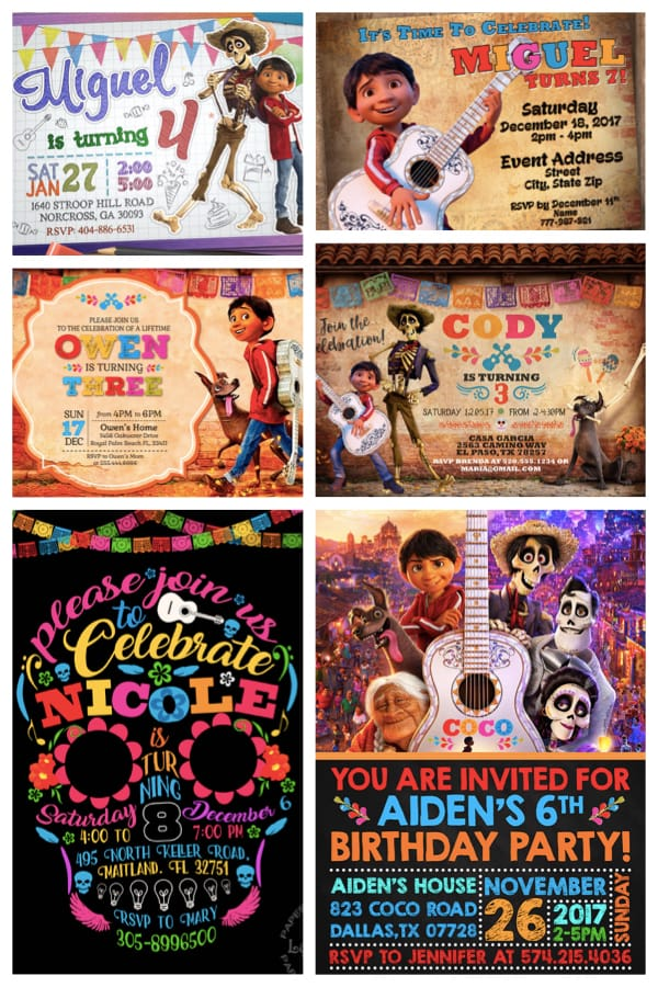 Printable COCO Birthday Party Invitations