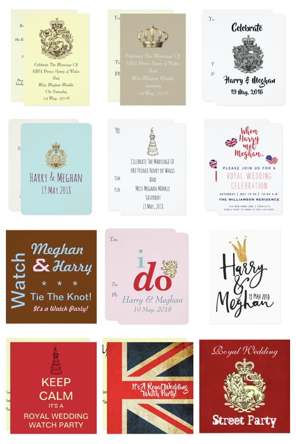 Royal Wedding Viewing Party Invitations When Harsry Marries Meghan