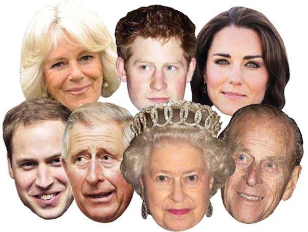 The Royals Celebrity Face Masks