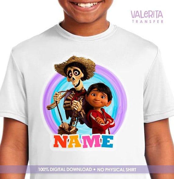 coco pixar iron on patch shirt