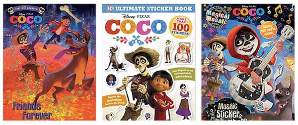 Coco coloring and sticker books