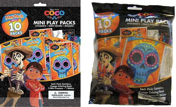 Coco party favors mini play packs