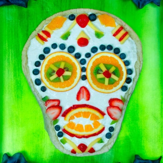 fruit sugar skull pizza recipe