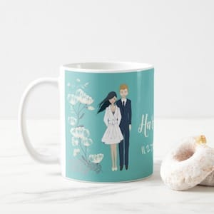Harry and Meghan Engagement Portrait Coffee Mug