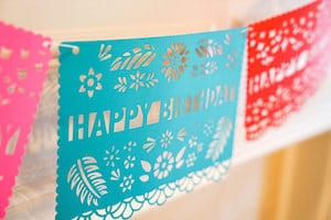 Mexican party banners