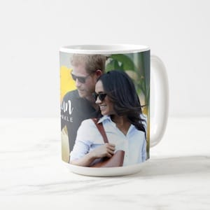 Harry and Meghan Engagement Portrait Coffee Mug