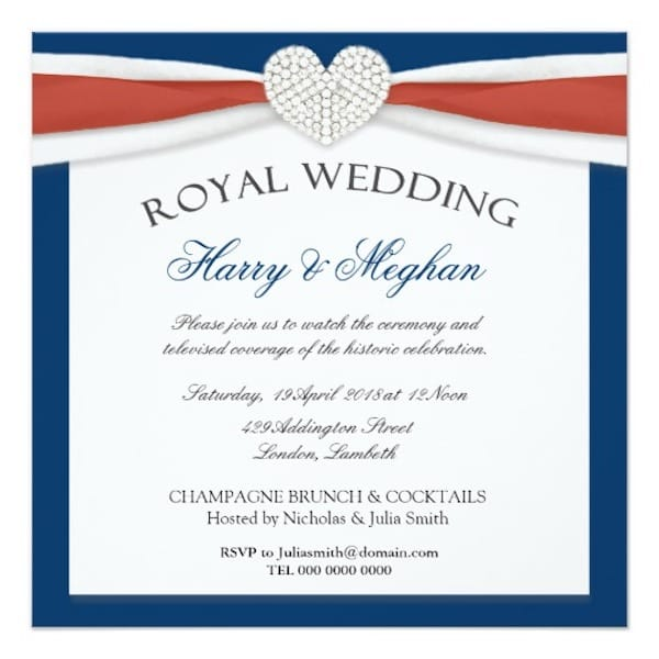 Royal Wedding Viewing Party Invitations
