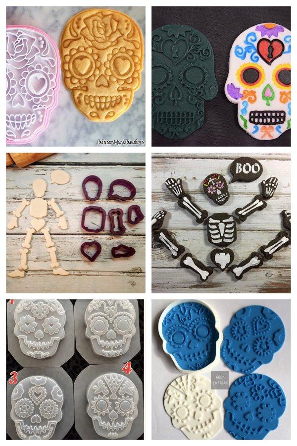 Sugar skull cookie cutters