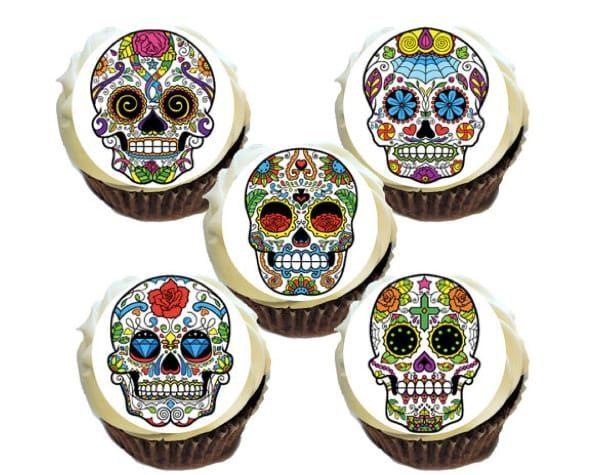 Sugar skull snacks cakes cupcakes
