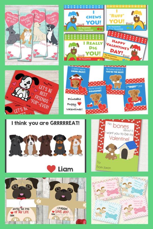Printable Puppy Love Valentines