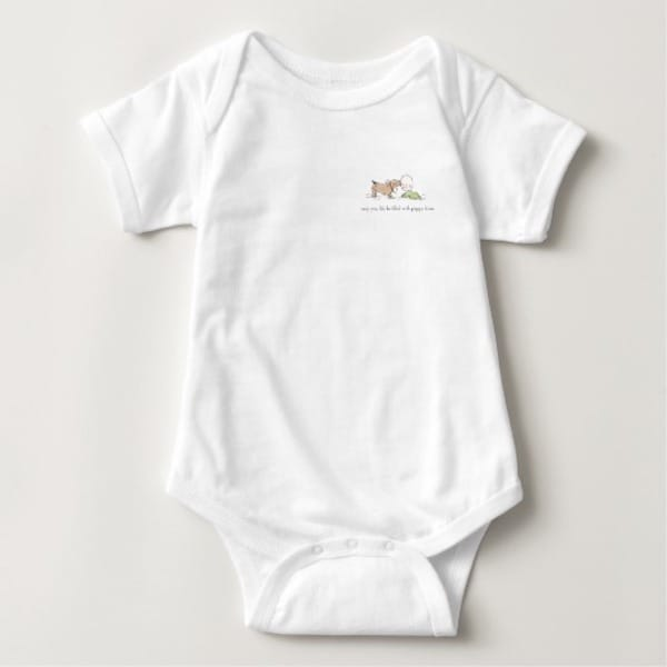 Puppy Kisses Baby Onesie