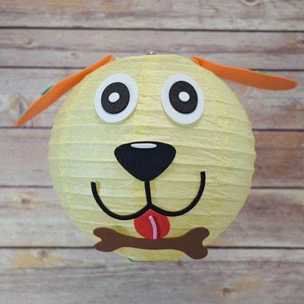 DIY Dog Face Paper Lantern