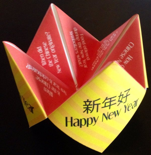Printable Chinese New Year Cootie Catcher