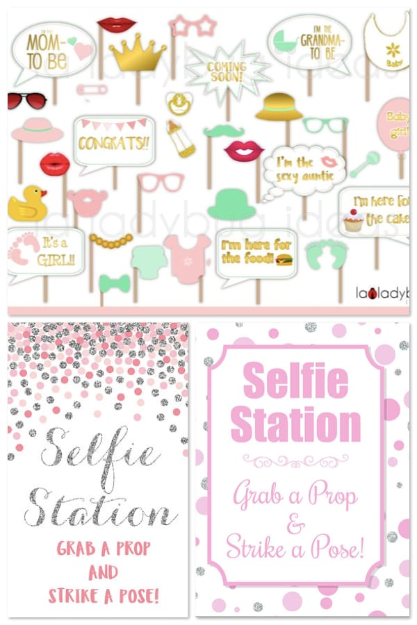 Baby Shower Selfie Stations
