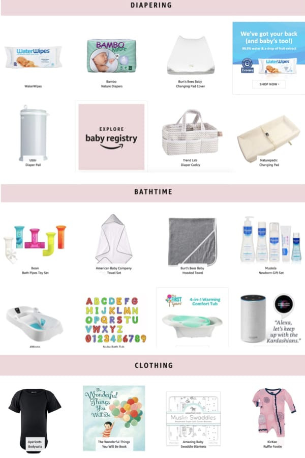 Diapering, Bath Time and Clothing Baby Registry, Throw a Kardashian Inspired Baby Shower