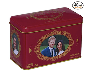 English Breakfast Tea Prince Harry & Meghan Markle Commemorative Tin 40 Teabags