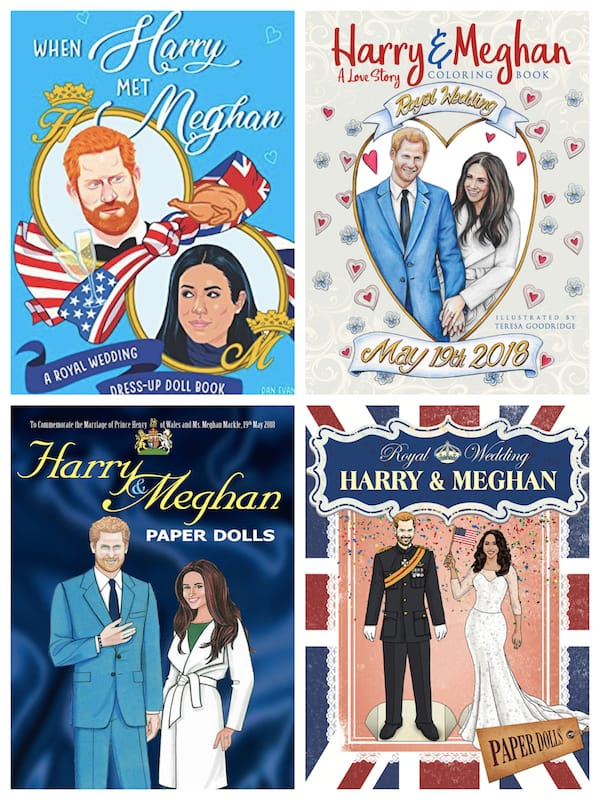 Harry and Meghan Coloring Books and Paper Dolls