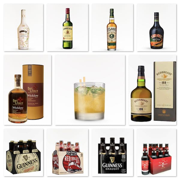 30 Minute Delivery of Irish Whiskeys Stouts & Ales