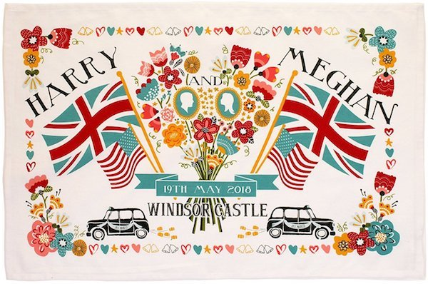 Royal Wedding of Prince Harry and Meghan Markle Tea Towel
