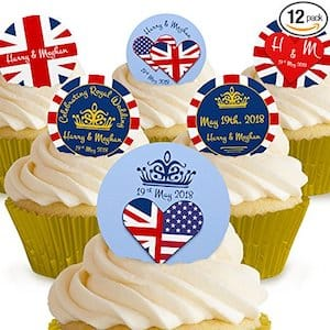 Prince Harry & Meghan Markle Royal Wedding Edible Cake Toppers