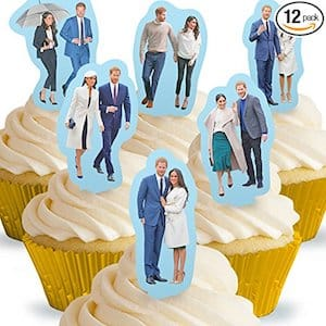 Prince Harry & Meghan Markle Royal Wedding Stand Up Edible Cake Toppers