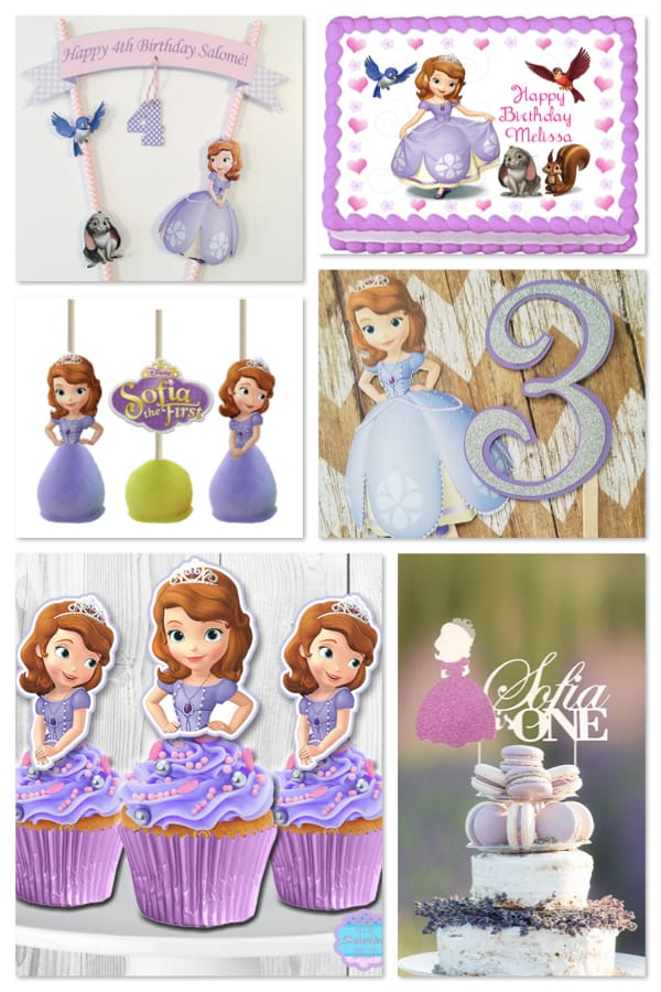 Sofia the First Birthday Party Cake Toppers