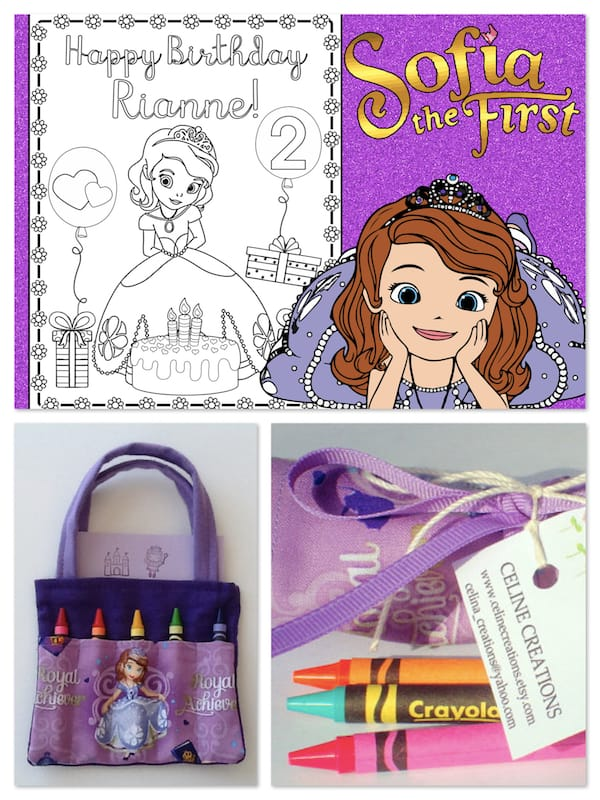 Sofia the First Crayons and Coloring Pages