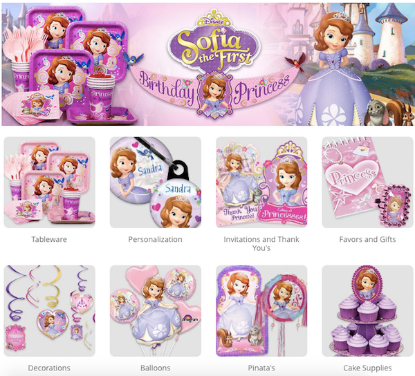 Sofia the First Birthday Party Supplies