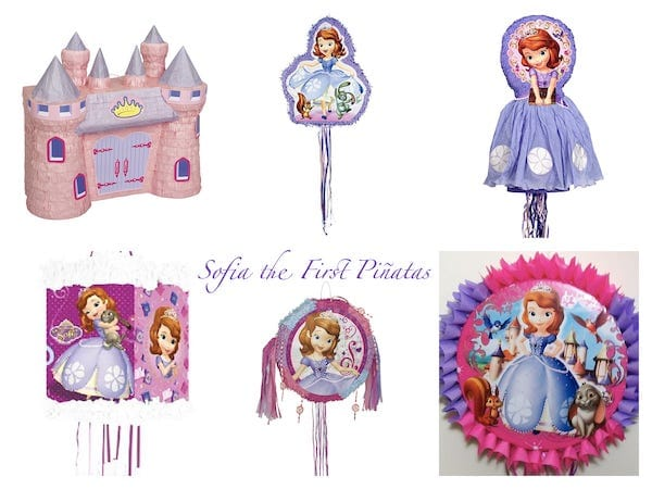 Sofia the First Birthday Party Pinatas